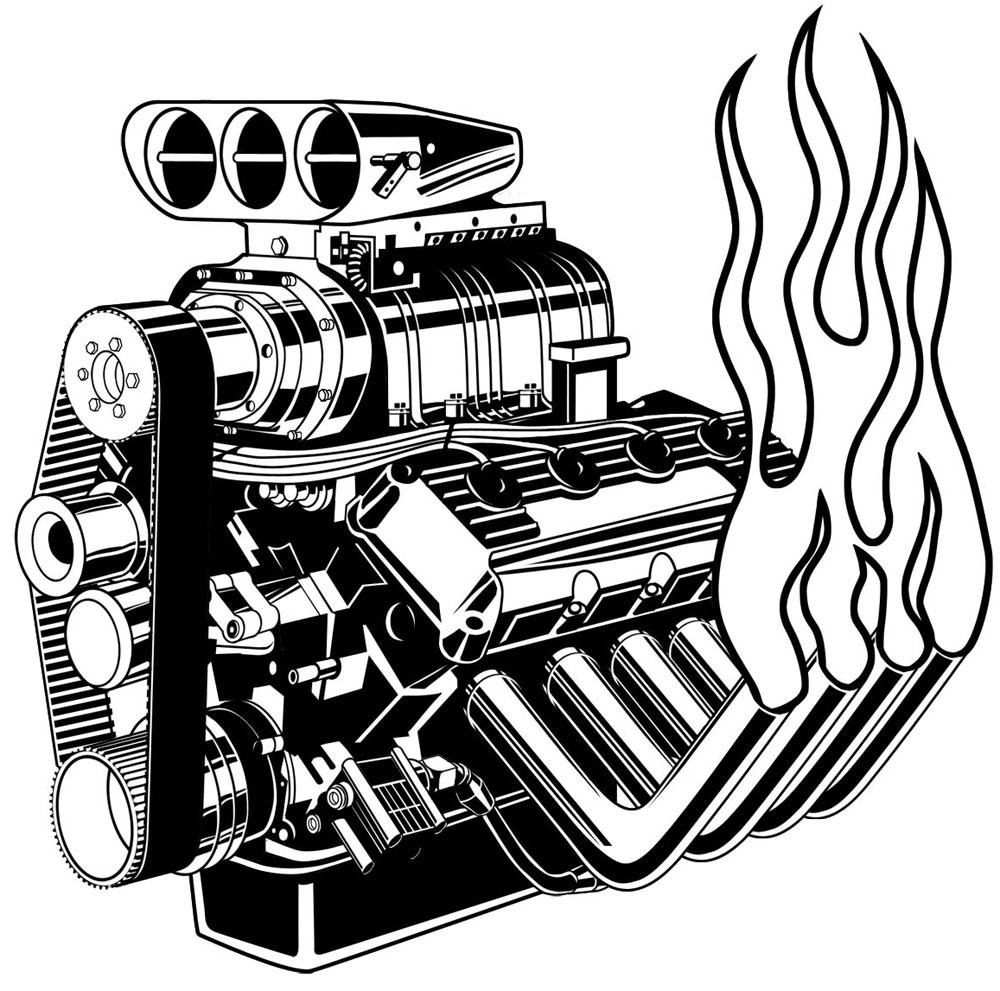 V8 Engine Clipart V8 Engine Clip Art Pic...